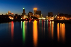 Providence City Light Reflections