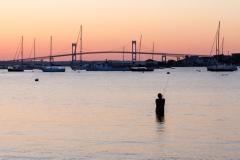 Fishing at Newport Bridge