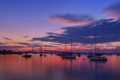 Newport Harbor at Dusk