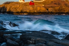 Sunset Waves at Nubble Light