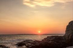 Sunset from Beavertail Rocks