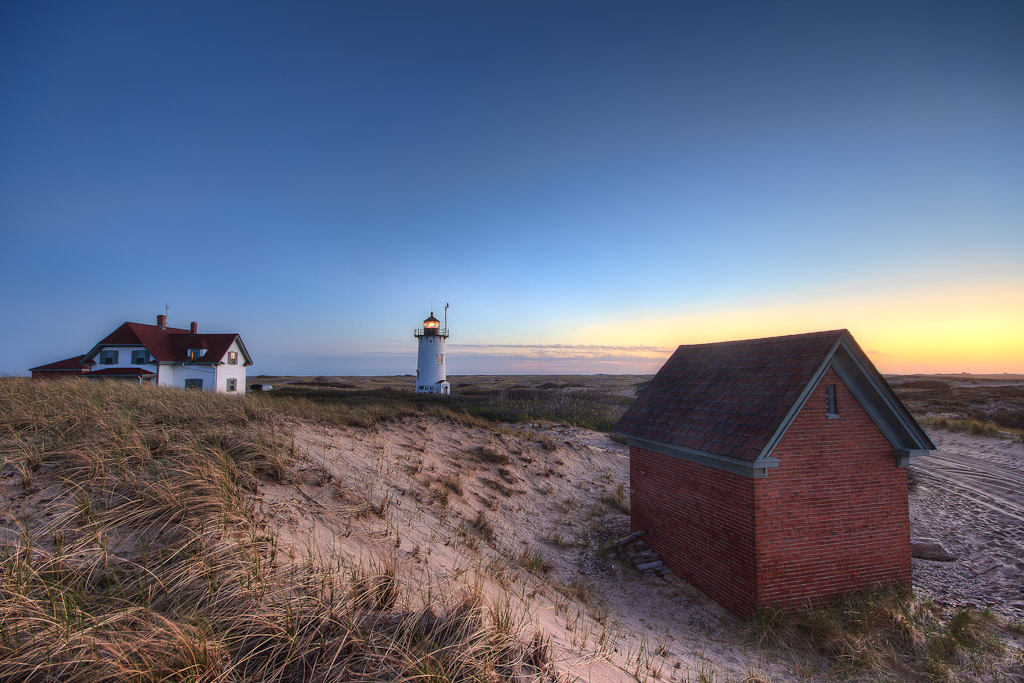 Photograph of Race Point Lighthouse, Cape Cod, Massachusetts. Taken by Rhode Island photographer Mike Dooley