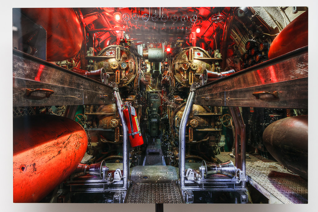 20'x30 Sublimation Onto Metal Print of the USS Lionfish Torpedo Room