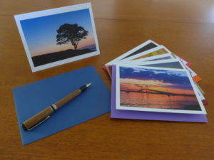 Photograph of note cards