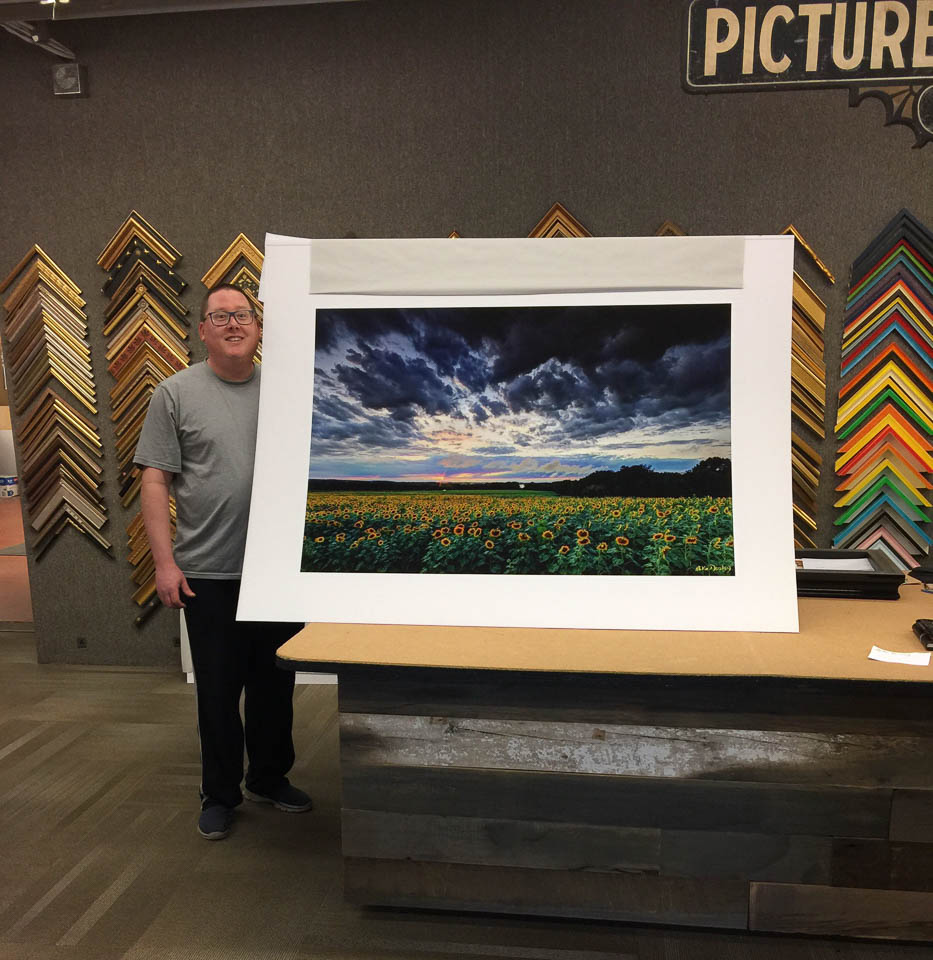 Large fine art photography paper prints ready to be framed