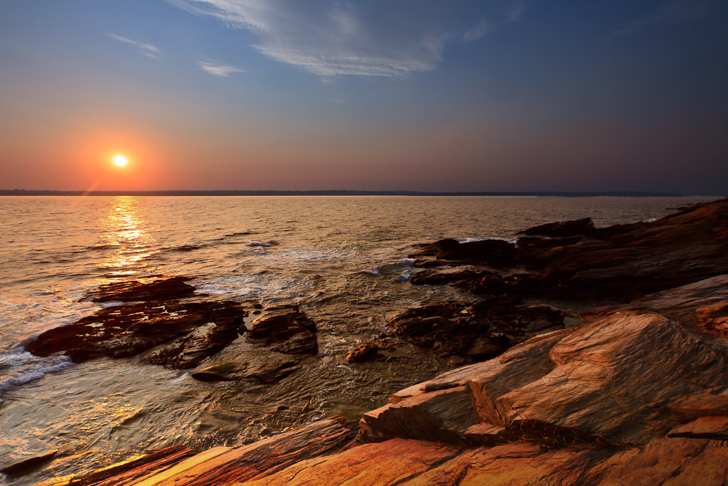 Seascape Photography At Beavertail State Park